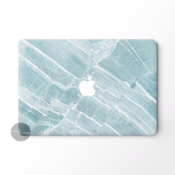 Minty Marble MacBook Skin