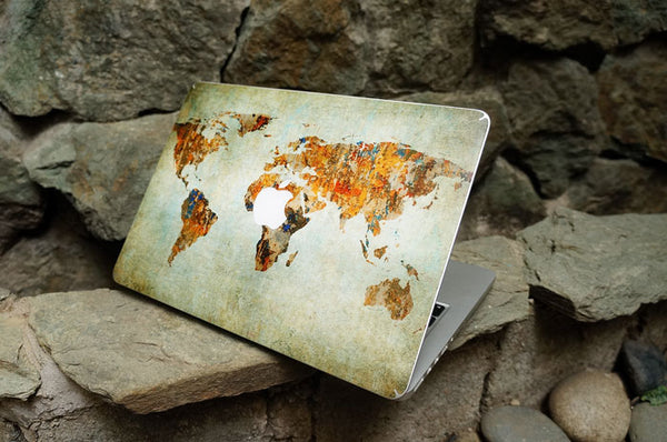 Vintage World Map MacBook Skin