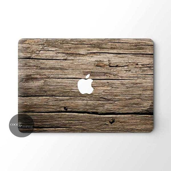 Vintage Wood MacBook Skin - Coco and Toffee