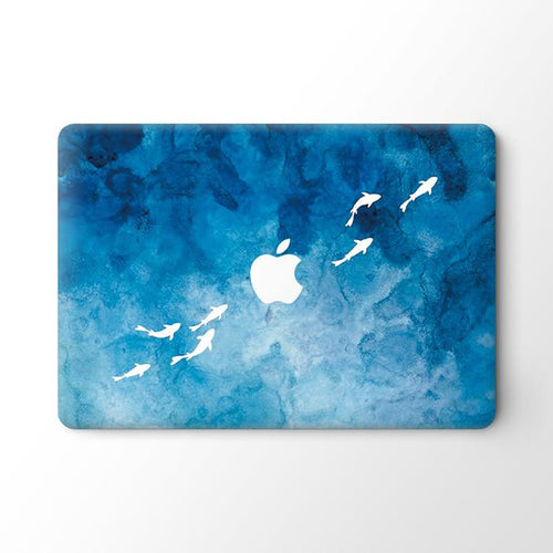 Watercolor Dolpins MacBook Skin - Coco and Toffee