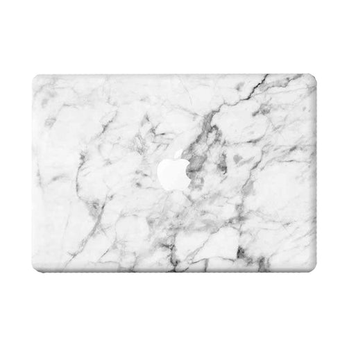 White Marble MacBook Skin - Coco and Toffee