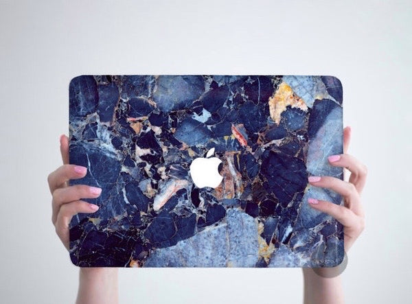Dark Blue Marble MacBook Skin