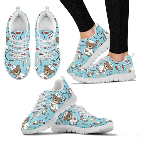 Awesome Bear Nurse Sneakers