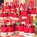 Wine Bottle Santa Bag
