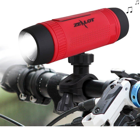 Zealot Bluetooth Bicycle Subwoofer - 4000mAh Power Bank with LED light & Bike Mount Carabiner