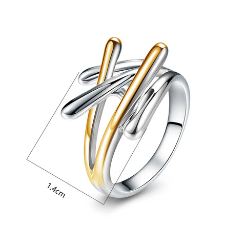 Viennois Brand New Fashion Jewelry Gold & Silver Color Cross Rings