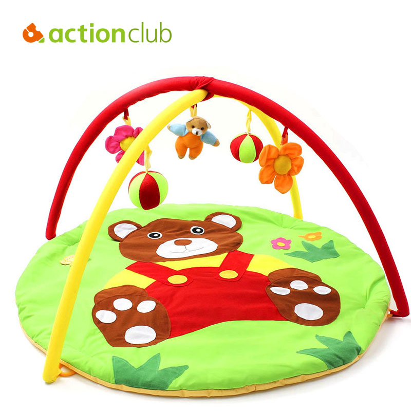 Actionclub Baby Bear Toy Play Mat 0-2 Years (95*95*50cm)