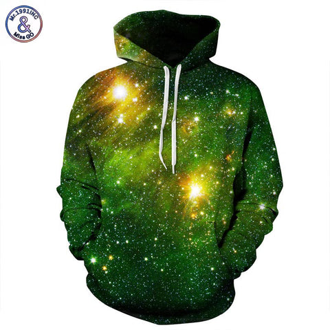 Galaxy 3d Hoodie Men/Women with Hat Print Stars