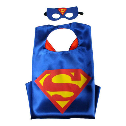 SUPER HERO CAPE AND MASK INCL. GREEN LANTERN, SPIDERMAN, BATGIRL, SUPER MAN AND MORE 70*70cm