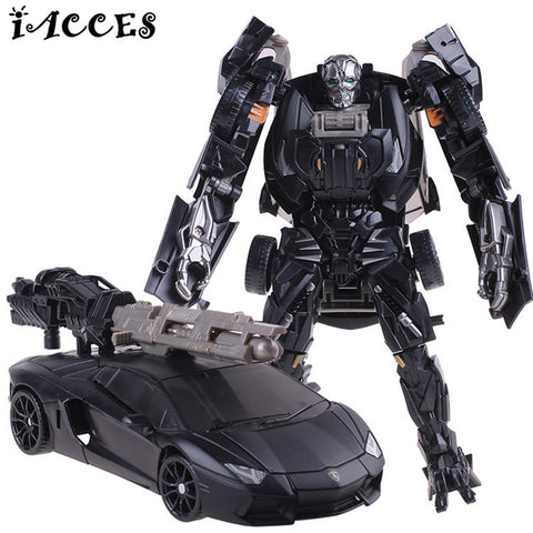 Plastic ABS + Alloy Transformer Robot Car Toy Action Figure