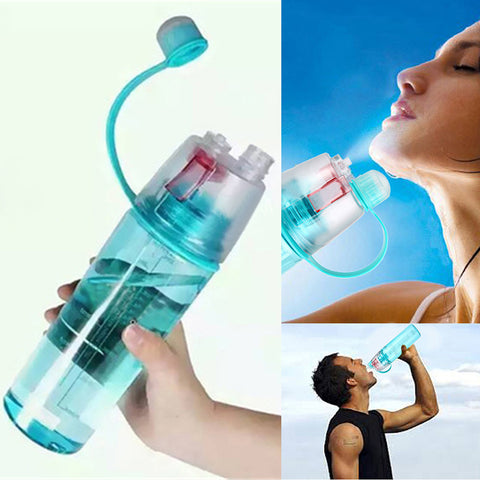 New Sports Spray Water Bottles Dual-use Plastic Bottle for Water Space Bottle 0.6L/0.4L for Bicycle Tour Trip Bpa Free Drinkware