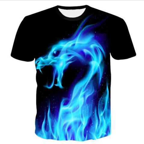 Animal Head 3d Printed Animation Tee Shirt