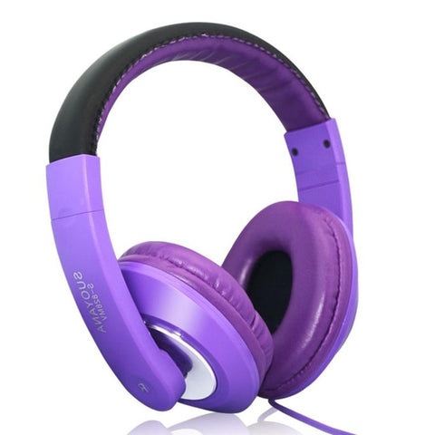 Headset for PC & Stereo Mic Over-Ear Wired Headphone Rainbow Colors