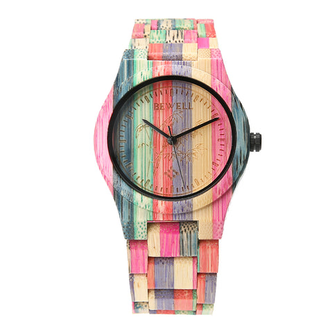 BEWELL Fashion Full Bamboo Wood Watch