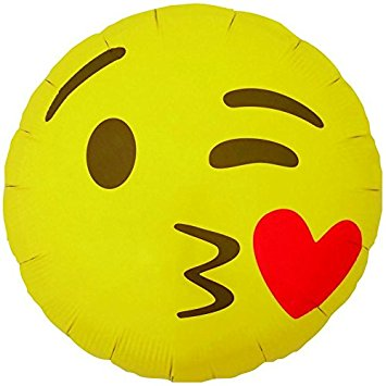 Foil Balloon - Emoji Blowing a Kiss