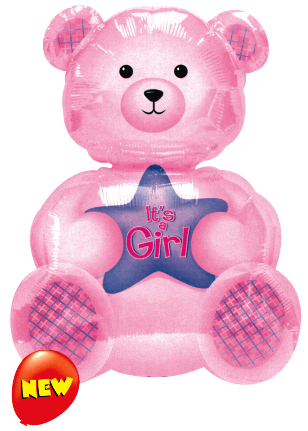 Pink Teddy 'It's a Girl' - Foil Balloon
