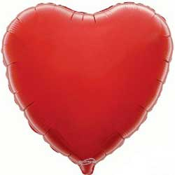 Red Heart - Foil Balloon