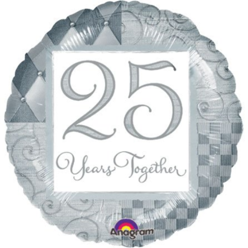 25 Years Together  - Foil Balloon