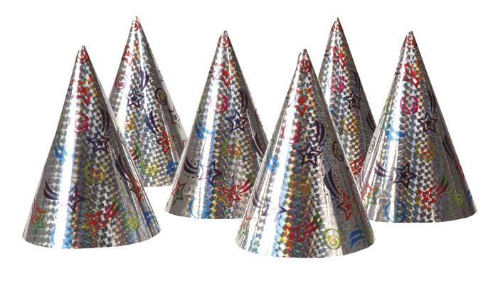 Holographic Party Hats