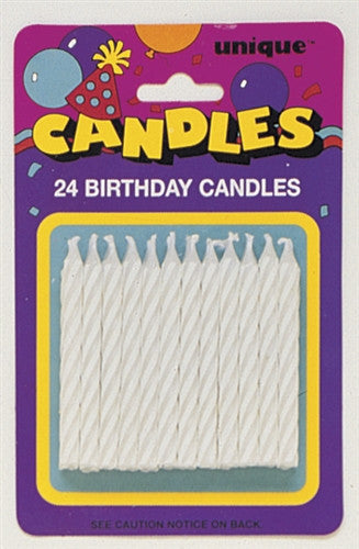 24 White Party Candles