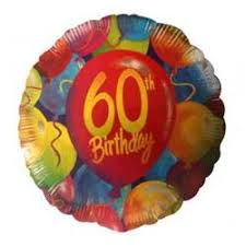Foil Balloon - 60th Birthday