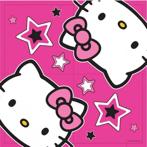 16 Hello Kitty Napkins pink and black Hell Kitty design