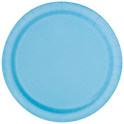 8 Powder Blue Paper Plates