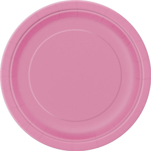 8 Hot Pink Paper Plates