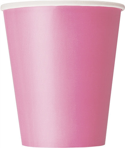 8 Hot Pink 9oz Cups