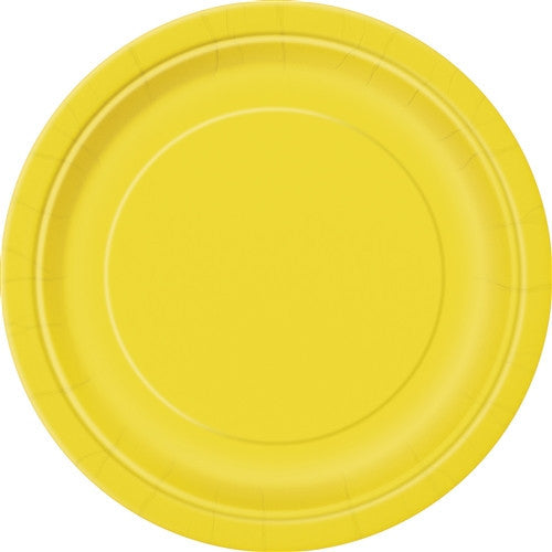 8 Sunflower Yellow Paper Plates