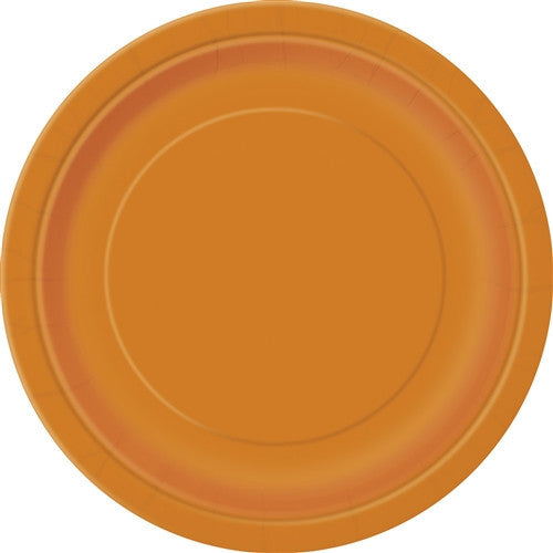 8 Pumpkin Orange Paper Plates