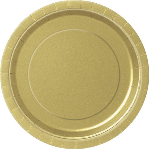 8 Gold Paper Plates