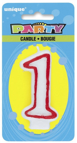 Number '1' Candle