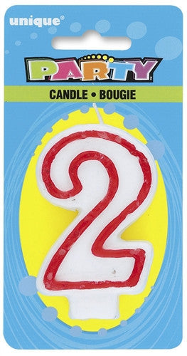 Number '2' Candle