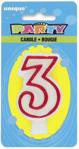 Number '3' Candle
