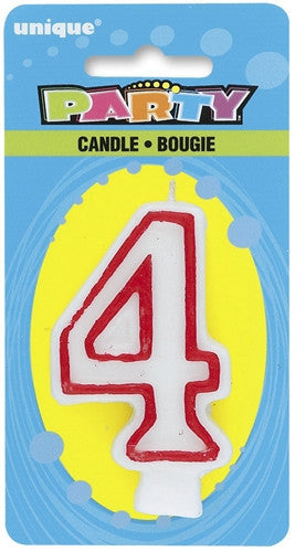 Number '4' Candle