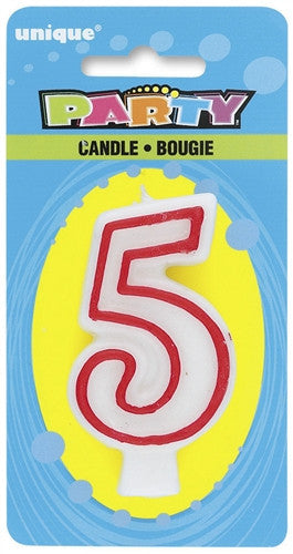 Number '5' Candle