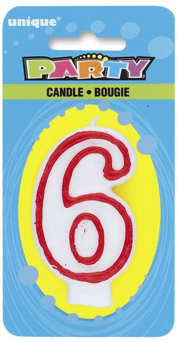 Number '6' Candle