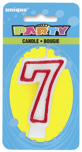 Number '7' Candle