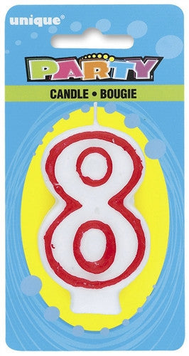 Number '8' Candle