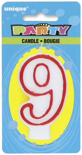 Number '9' Candle