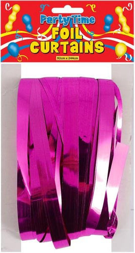 Foil Shimmer Curtain - Hot Pink