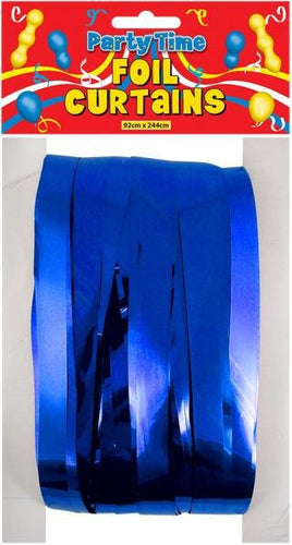 Foil Shimmer Curtain - Royal Blue
