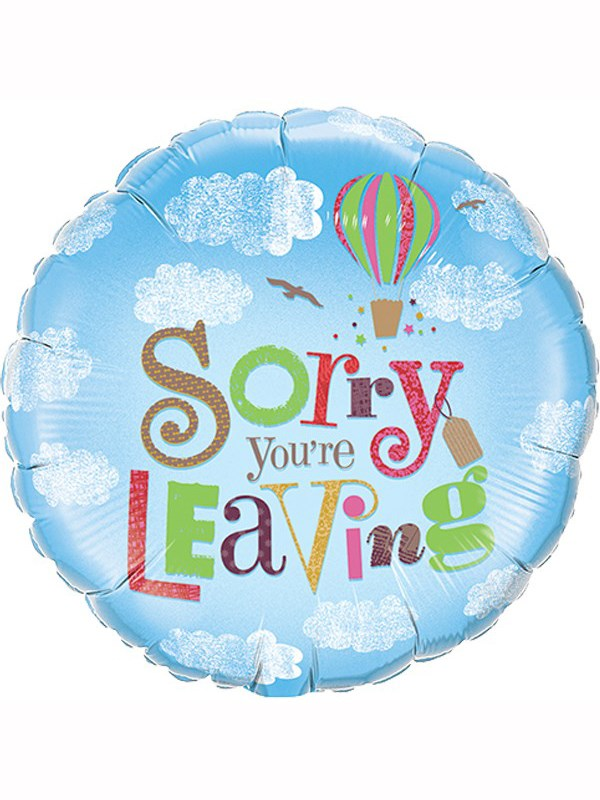Foil Balloon - Sorry You're Leaving