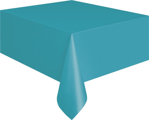 Caribbean Teal Plastic Tablecover