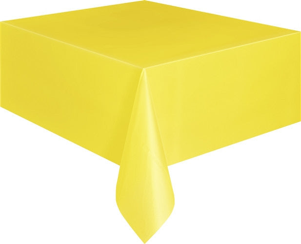 Sunflower Yellow Plastic Tablecover