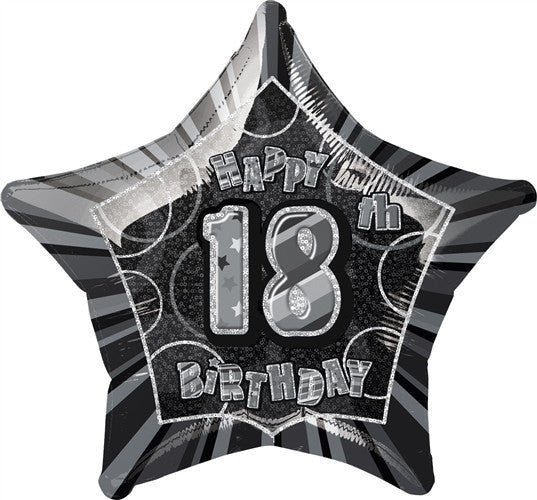 Black Glitz Foil Balloon