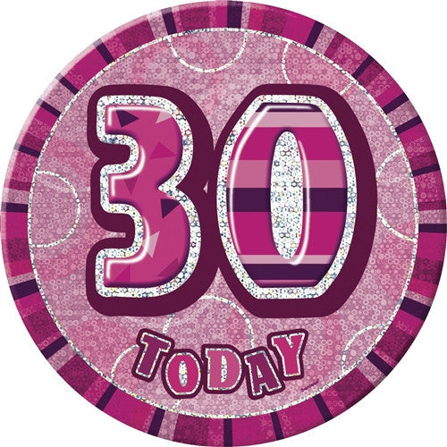 Glitz Pink Birthday Badge -
