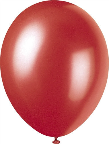Flame Red Pearlised Balloons