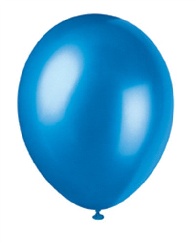 Cosmic Blue Pearlised Balloons